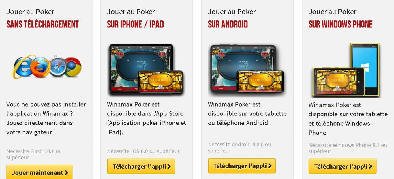 winamax poker app android ios windows
